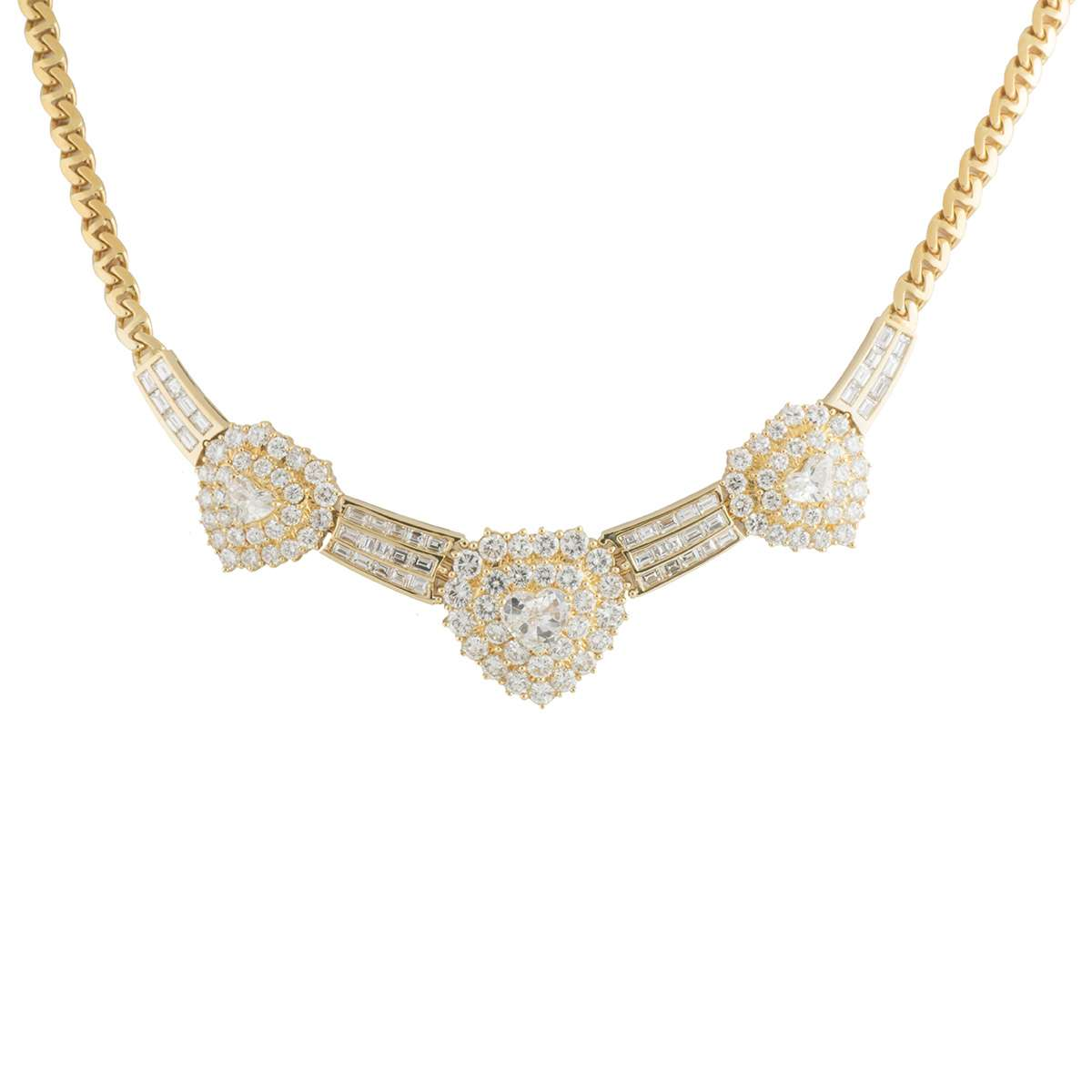 Yellow Gold Diamond Necklace 5.58ct